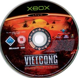 Artwork on the CD for Vietcong: Purple Haze on the Microsoft Xbox.