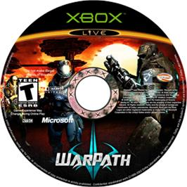Artwork on the CD for WarPath on the Microsoft Xbox.