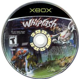 Artwork on the CD for Whiplash on the Microsoft Xbox.