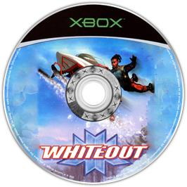 Artwork on the CD for Whiteout on the Microsoft Xbox.
