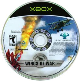 Artwork on the CD for Wings of War on the Microsoft Xbox.