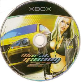 Artwork on the CD for World Racing 2 on the Microsoft Xbox.