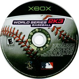 Artwork on the CD for World Series Baseball on the Microsoft Xbox.