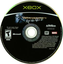 Artwork on the CD for X2: Wolverine's Revenge on the Microsoft Xbox.