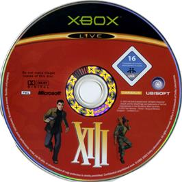 Artwork on the CD for XIII on the Microsoft Xbox.