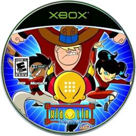 Artwork on the CD for Xiaolin Showdown on the Microsoft Xbox.