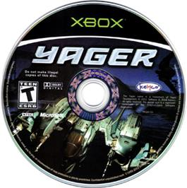 Artwork on the CD for Yager on the Microsoft Xbox.
