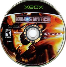 Artwork on the CD for kill.switch on the Microsoft Xbox.