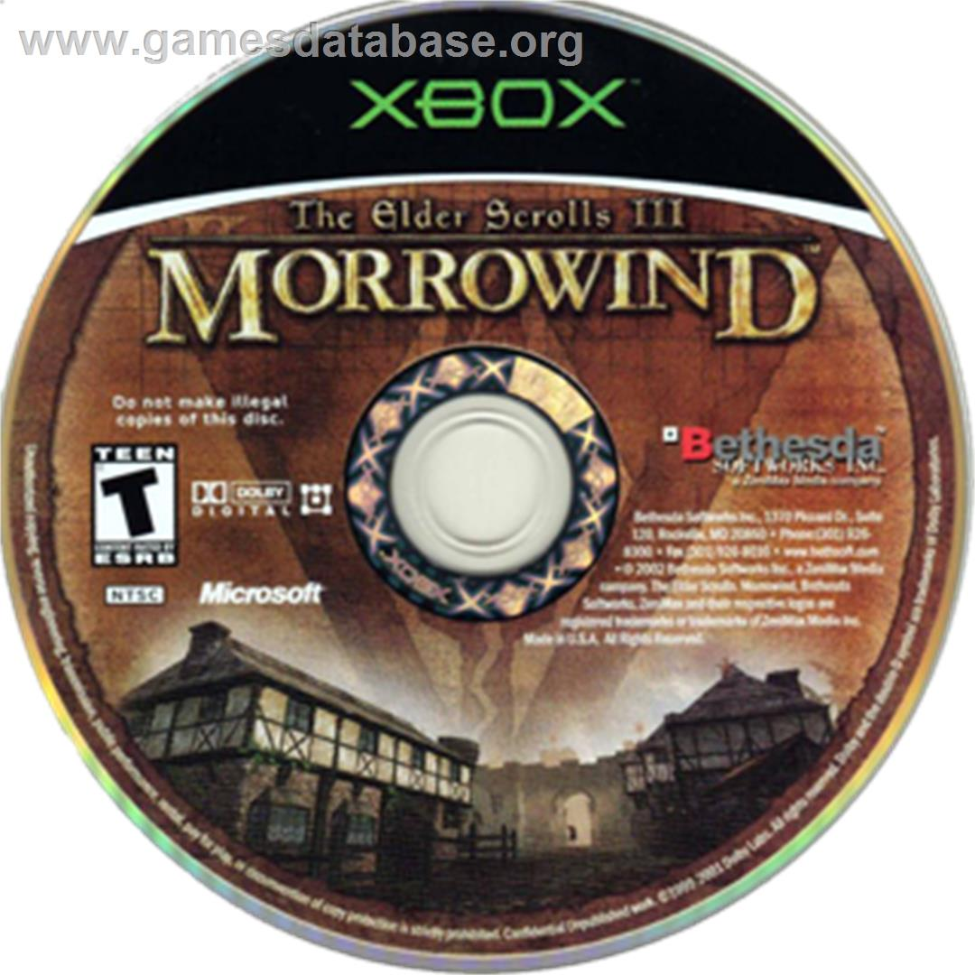 Elder Scrolls III: Morrowind (Game of the Year Edition) - Microsoft Xbox - Artwork - CD