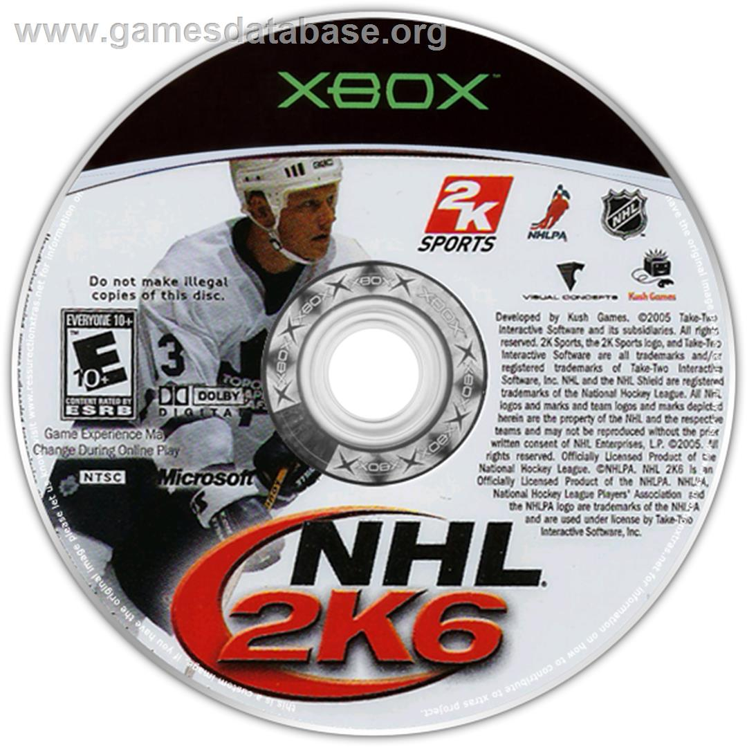 NHL 2K6 - Microsoft Xbox - Artwork - CD