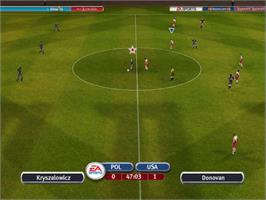 In game image of 2002 FIFA World Cup on the Microsoft Xbox.