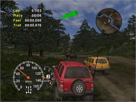 In game image of 4x4 Evo 2 on the Microsoft Xbox.