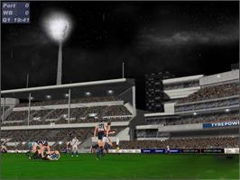 In game image of AFL Live 2003 on the Microsoft Xbox.