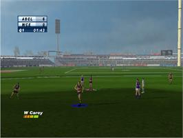 In game image of AFL Live 2004 on the Microsoft Xbox.