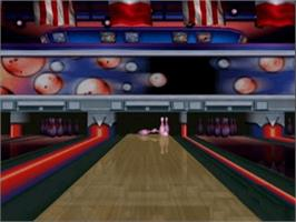 In game image of AMF Xtreme Bowling on the Microsoft Xbox.