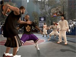 In game image of AND 1 Streetball on the Microsoft Xbox.