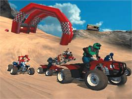 In game image of ATV: Quad Power Racing 2 on the Microsoft Xbox.