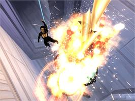 In game image of Aeon Flux on the Microsoft Xbox.