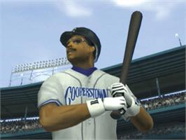 In game image of All-Star Baseball 2003 on the Microsoft Xbox.