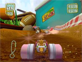 In game image of Antz Extreme Racing on the Microsoft Xbox.