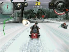 In game image of Arctic Thunder on the Microsoft Xbox.