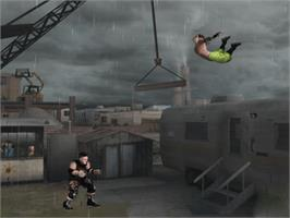 In game image of Backyard Wrestling 2: There Goes the Neighborhood on the Microsoft Xbox.
