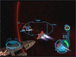 In game image of Battlestar Galactica on the Microsoft Xbox.