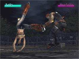 In game image of Beat Down: Fists of Vengeance on the Microsoft Xbox.