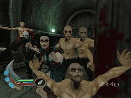 In game image of Blade 2 on the Microsoft Xbox.