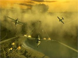 In game image of Blazing Angels: Squadrons of WWII on the Microsoft Xbox.