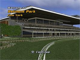 In game image of Breeders' Cup World Thoroughbred Championships on the Microsoft Xbox.