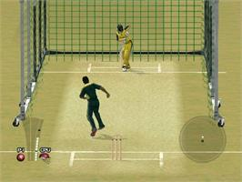 In game image of Brian Lara International Cricket 2005 on the Microsoft Xbox.