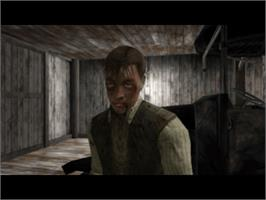 In game image of Call of Cthulhu: Dark Corners of the Earth on the Microsoft Xbox.