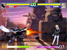 In game image of Capcom Fighting Evolution on the Microsoft Xbox.
