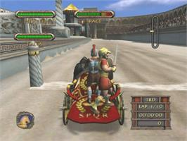 In game image of Circus Maximus: Chariot Wars on the Microsoft Xbox.