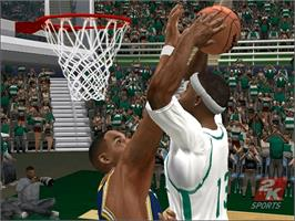In game image of College Hoops 2K6 on the Microsoft Xbox.