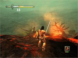 In game image of Conan on the Microsoft Xbox.