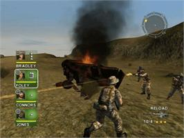 In game image of Conflict: Desert Storm on the Microsoft Xbox.