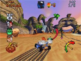 In game image of Crash Nitro Kart on the Microsoft Xbox.