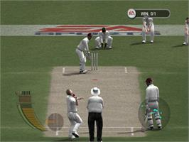 In game image of Cricket 2005 on the Microsoft Xbox.