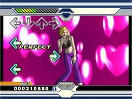 In game image of Dance Dance Revolution Ultramix on the Microsoft Xbox.