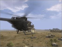In game image of Delta Force: Black Hawk Down on the Microsoft Xbox.