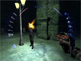 In game image of Deus Ex: Invisible War on the Microsoft Xbox.