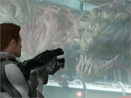 In game image of Dino Crisis 3 on the Microsoft Xbox.