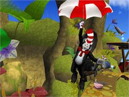 In game image of Dr. Seuss' The Cat in the Hat on the Microsoft Xbox.