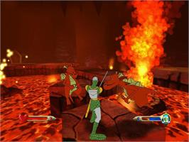 In game image of Dragon's Lair 3D: Return to the Lair on the Microsoft Xbox.