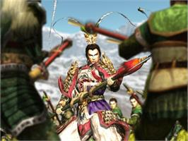 In game image of Dynasty Warriors 3 on the Microsoft Xbox.