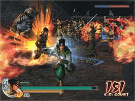 In game image of Dynasty Warriors 5 on the Microsoft Xbox.