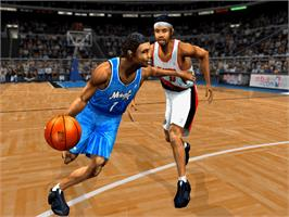 In game image of ESPN NBA 2Night 2002 on the Microsoft Xbox.