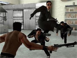 In game image of Enter the Matrix on the Microsoft Xbox.